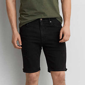 AEO Short Sleeve Poplin Shirt, Navy