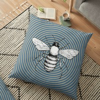 'Pop Art Bee' Floor Pillow by ValentinaHramov