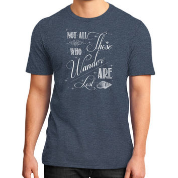 Not All Those Who Wander Are Lost District T-Shirt (on man)
