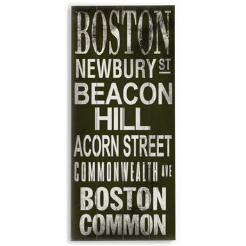 Boston by Artist Cory Steffen Wood Sign