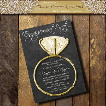 Shop Diamond Party Invitations on Wanelo