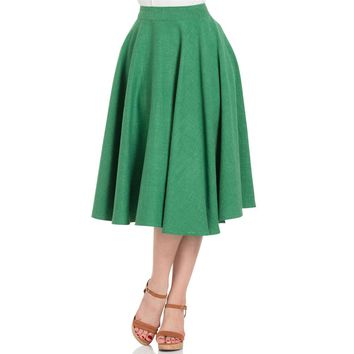 Sandy Green Circle Flair Skirt