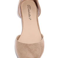 Vocation to Vacation Natural Suede Flats