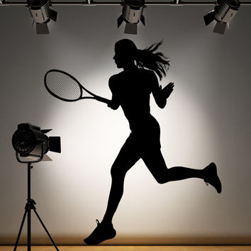 Vinyl Wall Decal Sticker Tennis Player #AC181