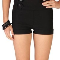 stretch twill four button tab waist club shorts  - debshops.com