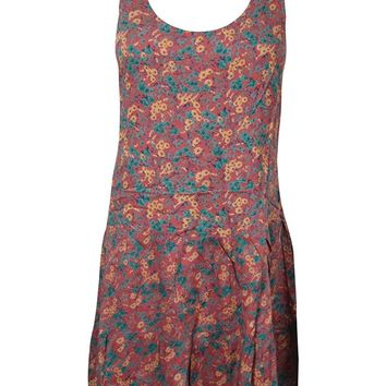 Bohemian Women Stylish Dresses Floral Print Sleeveless Cotton Hippie Summer Dress M: Amazon.ca: Clothing & Accessories