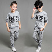 Brand Toddler Girl Boutique Clothing Set 2016 Fall Kids Tracksuit Children Boy Clothes School Sport Suit  4 5 6 7 8 13 Year TZ10