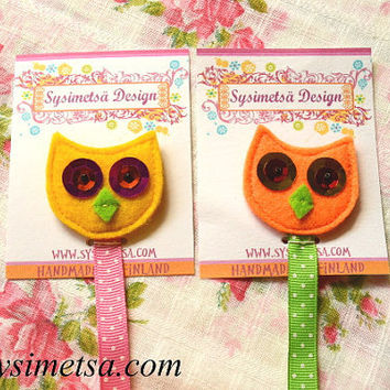 Felt Owl Bookmark, Handmade Owl Bookmarks, Colorful Embroidery Bookmark, Book Lovers Gift, Reading Mark