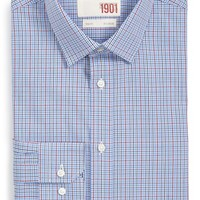 1901 Trim Fit Plaid Dress Shirt,