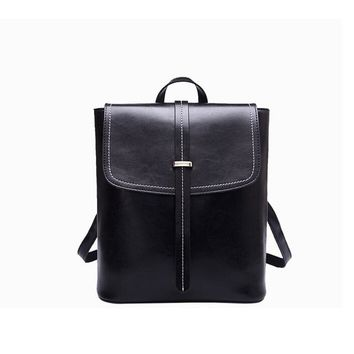 Student Backpack Children European and American leather shoulder bag ladies retro backpack large capacity student backpack AT_49_3