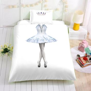 Drop Shipping 3D Girls Boys Kids Children Adults Duvet Cover Set Twin Size Home Decor Bedding Sets Princess gift Ballet