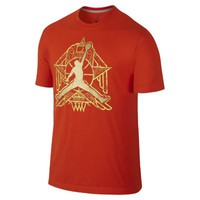 Nike Jordan Crescent City Jumpman Men's T-Shirt - Team Orange