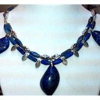High Priestess Lapis Lazuli Necklace and Earring Set