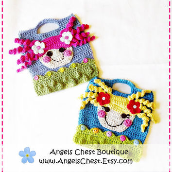 Lala Loopsy Lalaloopsy Doll Inspire Crochet Purse Bag Pattern Boutique Design - No. 39 by AngelsChest