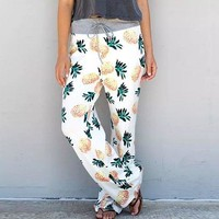 Pineapple Pattern Lounge Pants