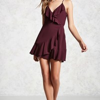 Ruffled Surplice Dress