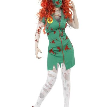 MOONIGHT New Women Zombie Costume Halloween Costume Fancy Dress Carnival Roleplay Costumes WIth mask
