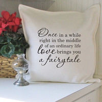 once in a while...a fairy tale pillow cover