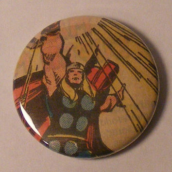 """2 Comic Book 1.5"""" Magnets// Thor and Beta Ray Bill"""