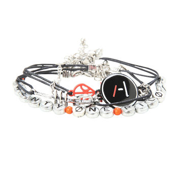 Twenty One Pilots Blurryface Bracelet 4 Pack