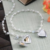 Cathys Concepts Personalized Pearl Bracelet with Locket Charm - B9156SW - Jewelry Boxes - Decorative Accents - Decor