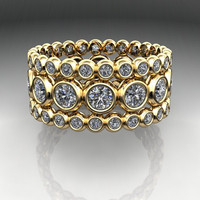CONFETTI Eternity Band Forever Brilliant Moissanite 4.98 CTW