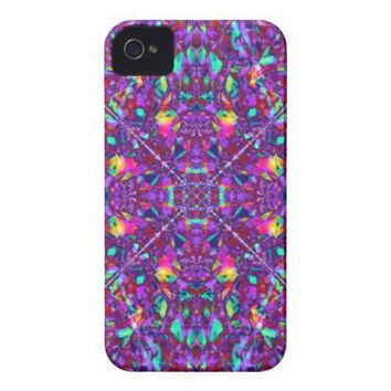 Purple Mandala Hippie Pattern iPhone 4 Case-Mate Case from Zazzle.com