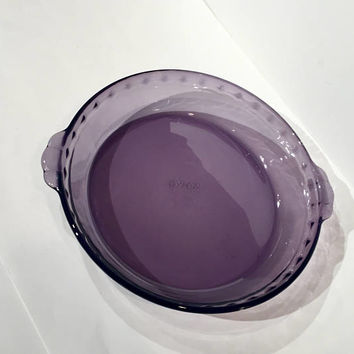 Pyrex Purple Glass Pie Plate, Vintage Pyrex Amethyst Glass Pie Plate | Pyrex Baking Dish