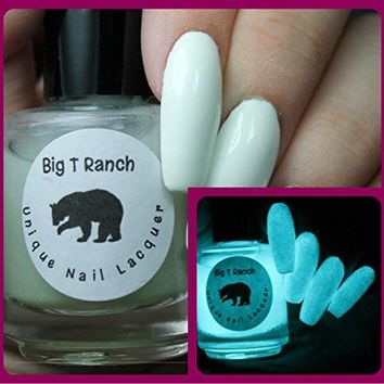 Glow-in-the-Dark Nail Polish Top Coat - FREE SHIPPING - Aqua - JUPITER - Nail Polish/Lacquer - Regular Full Sized Bottle (15 ml size)
