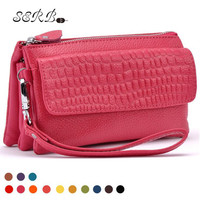 SERB 2016 Brand Women Day Clutches Mini Genuine Leather Crossbody Bags For Woman Fashion Ladies Single Shoulder Bags 11 Colors