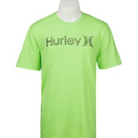 Hurley Men's One & Only Lime Green Push Through Logo Short Sleeve Tee