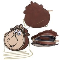 Licensed cool Danielle Nicole & Disney Beauty & The Beast Cogsworth Clock Crossbody Purse Bag
