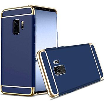 For Galaxy S9 Plus Case,JOBSS Hybrid Luxury Shockproof Armor Back Ultra-thin Case Cover Removable case for Samsung Galaxy S9 Plus Dark Blue