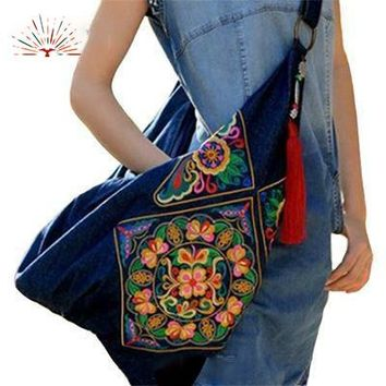 Stylish Thailand Embroidered Cross Body Bag