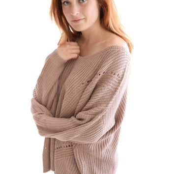 Through the Woods Sweater In Mauve