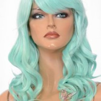 Epic Cosplay Hestia Mint Cosplay Curly Wig 22 Inches (08MT)
