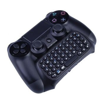 1Pcs Black Wireless Game Gaming Bluetooth Chatpad Message Keyboard for Sony for PlayStation 4 for PS4 Controller With USB Cable