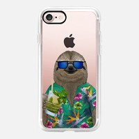 Sloth on summer holidays drinking a mojito iPhone 7 Case by Barruf | Casetify