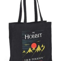 Hobbit 75th Anniversary Black Canvas Tote Bag (14