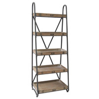 Crestview Collection Voyager Metal And Wood Tiered Etagere