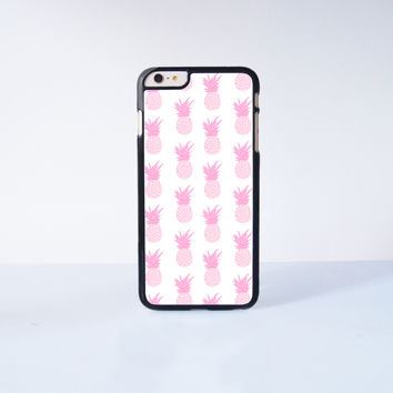 Pink Pineapple Collection Plastic Case Cover for Apple iPhone 6S Plus  6S 6 6 Plus 4 4s 5 5s 5c