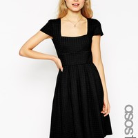 ASOS TALL Debutante Full Midi Dress In Texture