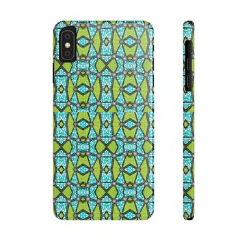 Chuks Green African Priint Case Mate Slim Phone Cases