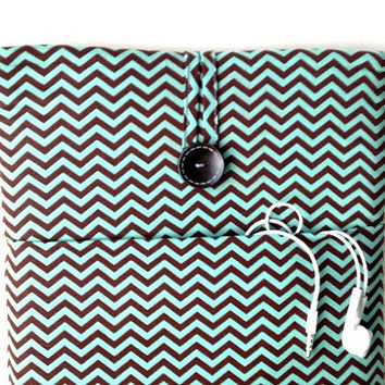 Turquoise Macbook Air Case, 13 Laptop Sleeve Cord Pocket, Mac Book Pro 13 .3 inch Retina Screen Padded Cover, Bag, Cover Aqua Blue Green Sac