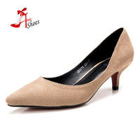 small big size 33,41new 2016 factory shoe women pointed toe bottom low heel pump lady single ol work career spring fall shoe
