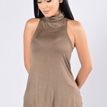 Call It a Day Tank Top - Olive