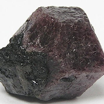 Red Almandine Garnet,  Raw Gemstone Crystal with Biotite Black Mica Mineral Specimen mined at River Valley, Ontario, Wear it or Display it