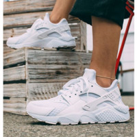 """NIKE"" Women Casual Running Sport Shoes Sneakers Huarache White"