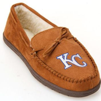 MLB Kansas City Royals Moccasin Slipper Tan