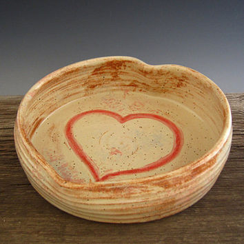 Heart Baking Dish - Lover's Casserole Dish - Rustic Country Cottage Style - Ceramic Bakeware - Wedding Gift - Romantic Gift